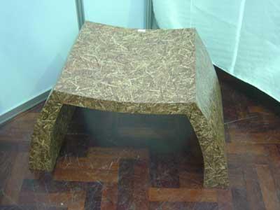 เก้าอี้จากไม้อัดตะไคร้ผสมหญ้าคา