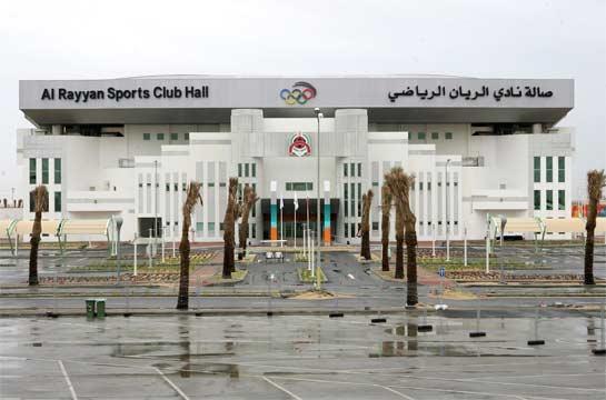 สนามในร่มที่อัลราย์ยัน สปอร์ต คลับที่ใช้ทำการแข่งขันวอลเลย์บอล