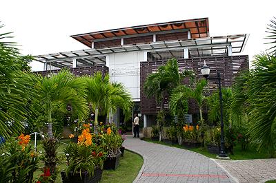 ด้านหน้าอาคารพรรณไม้ไทยฯ