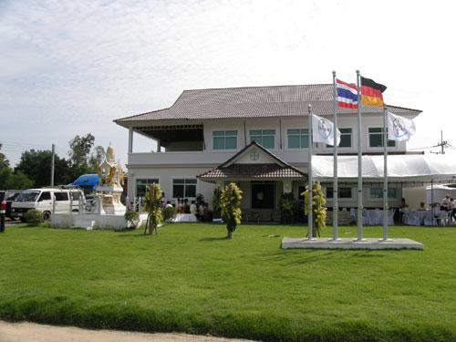 อาคารศูนย์วิจัยและพัฒนาข้าวแห่งแรกในประเทศไทยของไบเออร์