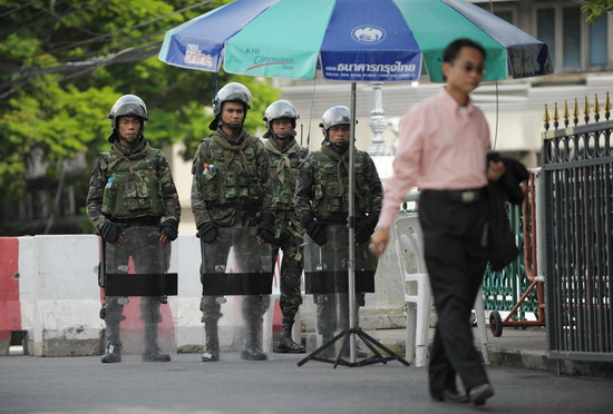 Thai troops deployed for Thaksin coup rally