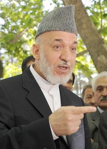 ประธานาธิบดี ฮามิด คาร์ไซ แห่งอัฟกานิสถาน