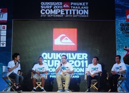 "Quiksilver ดึงโปรเซิร์ฟทั่วโลกโชว์ลีลาโต้คลื่นในงาน ""Quiksilver Thailand Surf Competition 2011"""