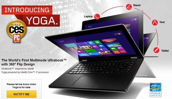 IdeaPad Yoga 11 อุปกรณ์ลูกผสมแท็บเล็ตและแล็ปท็อปรุ่นแรกของ Lenovo ที่ใช้ชิป ARM และระบบปฏิบัติการ Windows RT