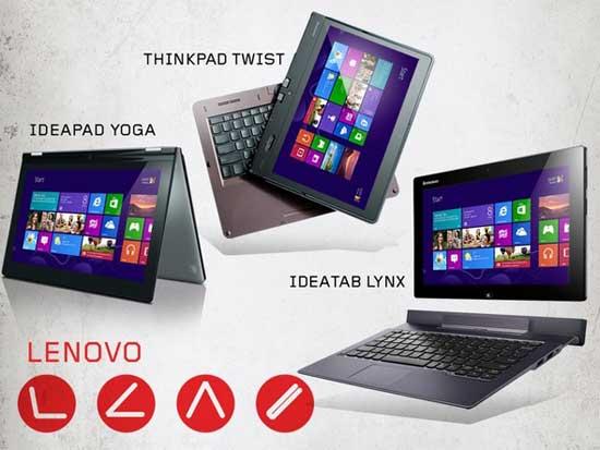 กองทัพสินค้าใหม่ของ Lenovo