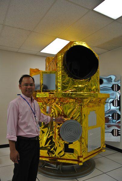 แบบจำลองดาวเทียมไทยโชตขนาดเท่าจริง