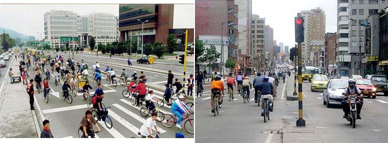 เลนจักรยานเมืองโบโกต้า เมืองหลวงประเทศโคลัมเบีย