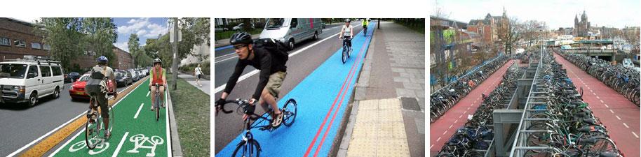 เลนจักรยานในเมืองยุโรป