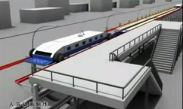 จีนเจ๋ง! ออกแบบรถไฟวิ่งผ่านสถานีรับผู้โดยสารได้ โดยไม่ต้องจอด