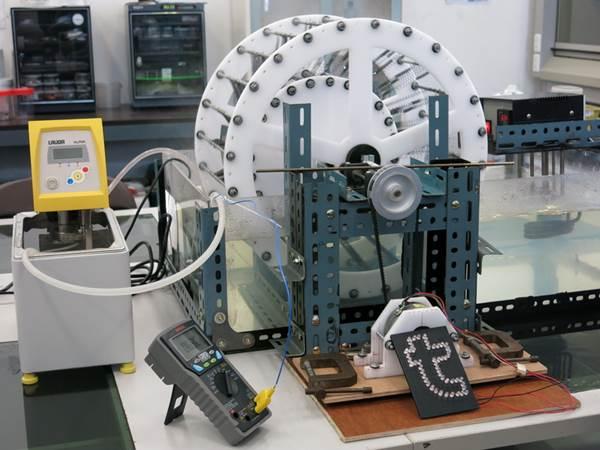 เครื่องจักรกลความร้อน โดยใช้หลักการยืดหดของขดลวดสปริง