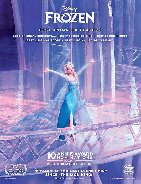 Frozen แอนิเมชั่นที่กวาดรางวัลไปจำนวนมาก