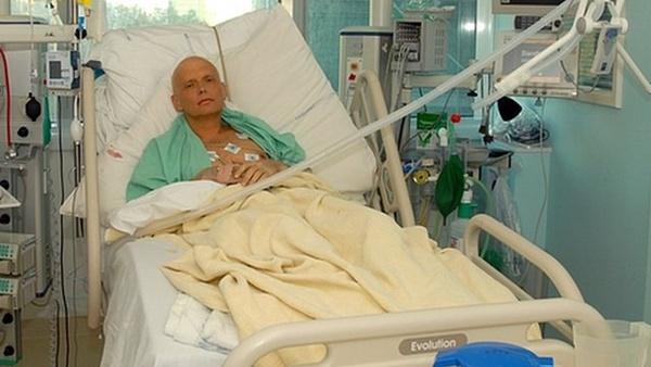 Alexander Litvinenko ระหว่างรักษาตัว