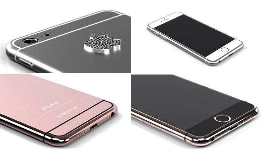 iPhone 6 รุ่นสั่งทำของ Brikk นั้นมีตั้งแต่รุ่นชุบทองคำ แพลตตินัม และพิงค์โกลด์