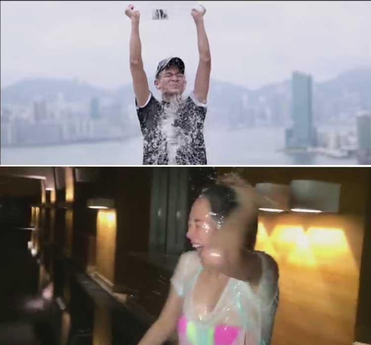 """(ชมคลิป) 'ผมรับคำท้าฯ' หลิวเต๋อหัว ชวนเหล่าคนดังจีน ส่งต่อ """"Ice Bucket Challenge"""""""