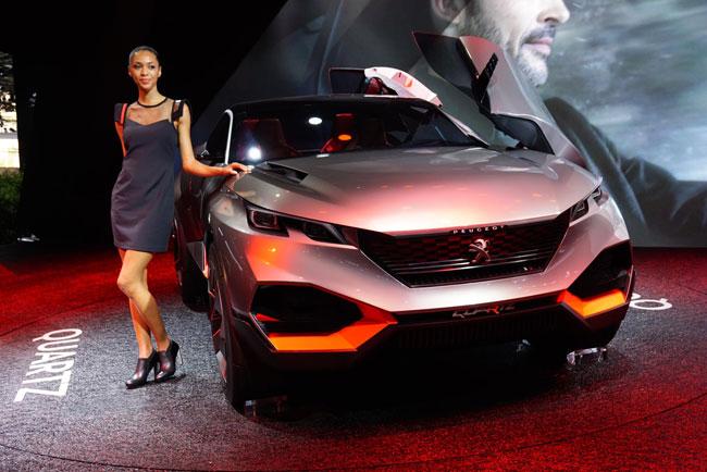 ..Peugeot Quartz ต้นแบบทรง SUV ที่มีขนาดตัวถัง 4,500 ซีซีไซส์เดียวกับ Nissan Qashqai ที่ได้รับความนิยมอย่างมากในยุโรป