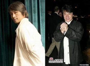โจวซิงฉือและเฉิงหลง สองดาราใหญ่ที่แฟนหนังชาวไทยคุ้นเคย และครองเสียงพากย์โดยคุณโต๊ะมานาน