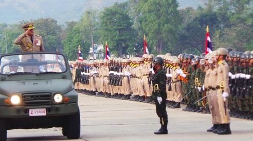 กองทัพเรือจัดทำพิธีกระทำสัตย์ปฏิญาณตนต่อธงชัยเฉลิมพลในวันกองทัพไทย
