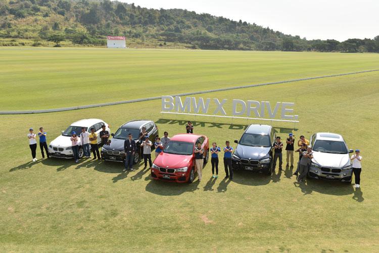 BMWตระกูลX ที่ทำตลาดในไทย ไล่จากซ้ายไปขวา X1 X3 X4 X5 และ X6