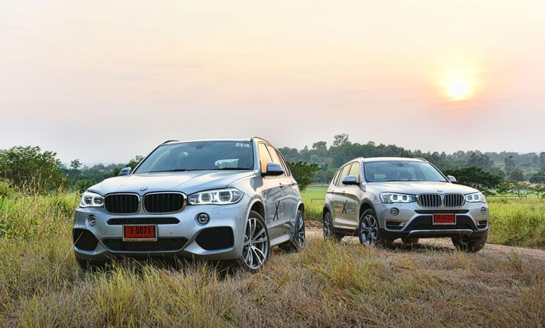 (ซ้าย) X5 xDrive30d M Sport และ (ขวา)  X3 xDrive20d