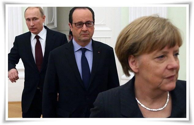 "In Pics : เสี่ยหมีไม่กลัวคำขู่ ""แมร์เคิล-โอลลองด์"" ออกโรงเตือนโอบามา ""ปูตินไม่กลัวสหรัฐฯป้อนอาวุธยูเครน ซ้ำอาจเกิดสงครามใหญ่"""