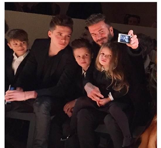 ครอบครัวเบคแฮมขโมยซีนในงาน New York Fashion Week