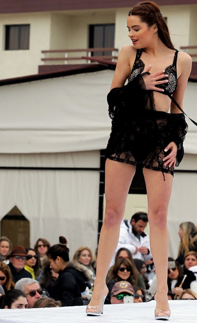 Lingerie fashion show in Faraya