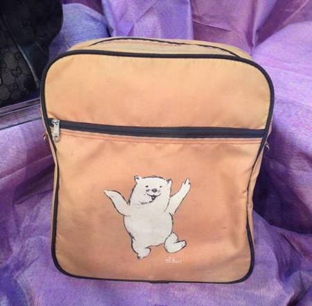 กระเป๋าทำผ้าร่มลายวอมแบต