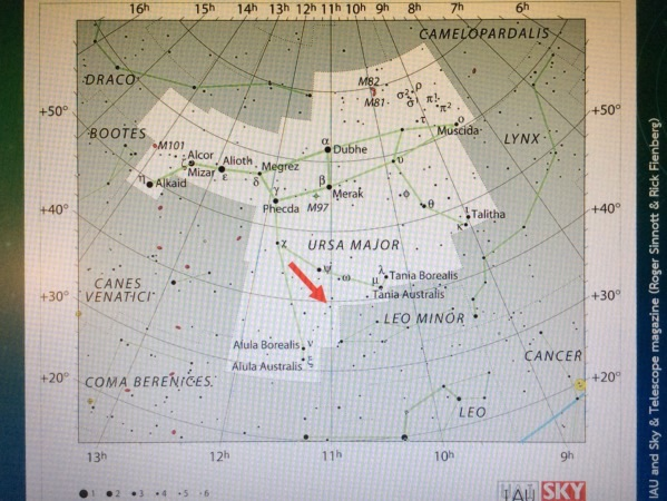 โลกต่างระบบ 47 เออเซย์ มาจอริสในแผนที่ท้องฟ้า