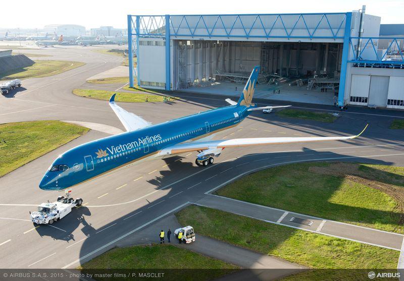 เวียดนามแอร์ไลน์สรับ A350XWB ลำแรก ใช้บินทันทีสุดสัปดาห์นี้