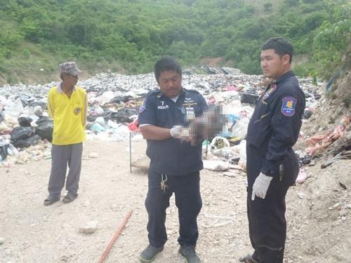 พบศพเด็กทารกถูกยัดในถุงดำทิ้งบ่อขยะที่เกาะล้าน