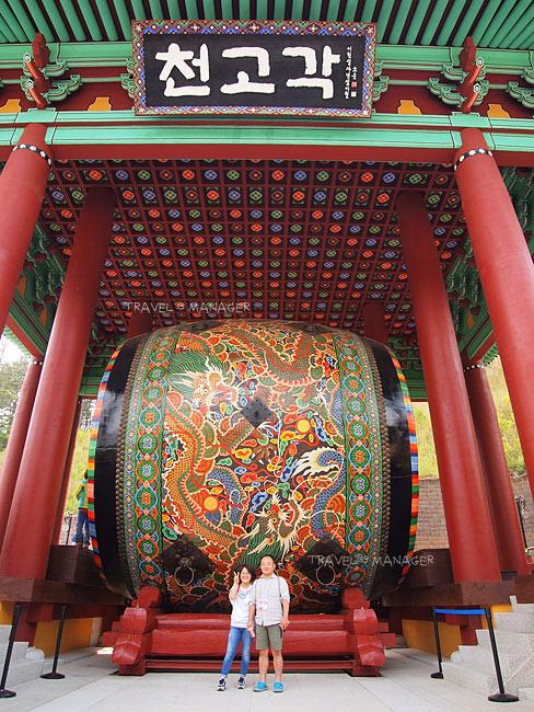 กลองใหญ่ที่สุดในโลกอยู่ที่ Nangye Korean Traditional Music Museum