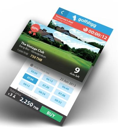 Golfdigg แอพฯ จองสนามกอล์ฟบนมือถือ