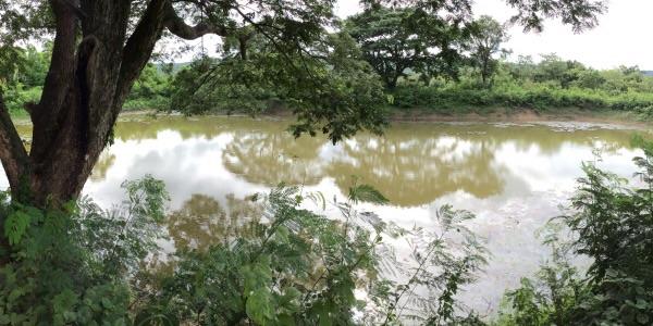 สระเก็บน้ำเพื่อการเกษตรถูกขุดขึ้นจากความร่วมแรงร่วมใจของชาวบ้าน