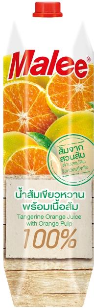"""""""มาลี"""" ส่งตรง """"น้ำส้มเขียวหวาน สุโขทัย 100%"""" จากส้มสดปลอดสารพิษ พร้อมเนื้อส้มเน้นๆ เต็มๆ"""