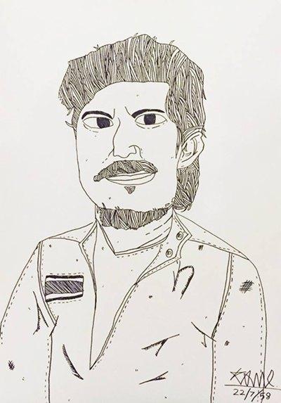 ภาพวาดผลงานน้องกาโม่