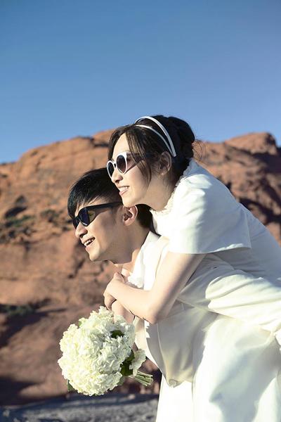 กู่ จี้ว์จี กับ ลอเรน เฉิน ภรรยาที่คบหากันมายาวนาน