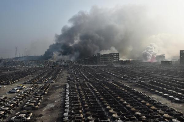 ประมวลภาพ: เหตุระเบิดเทียนจิน ยอดตาย 50 เจ็บเกิน 700 ดาวเทียมจับภาพหายนะพังเมือง