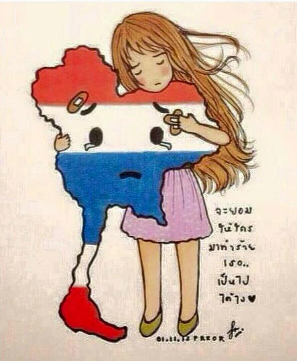 ภาพการ์ตูนรักเธอประเทศไทย ที่ชาวเน็ตนิยมแชร์กันเป็นจำนวนมาก