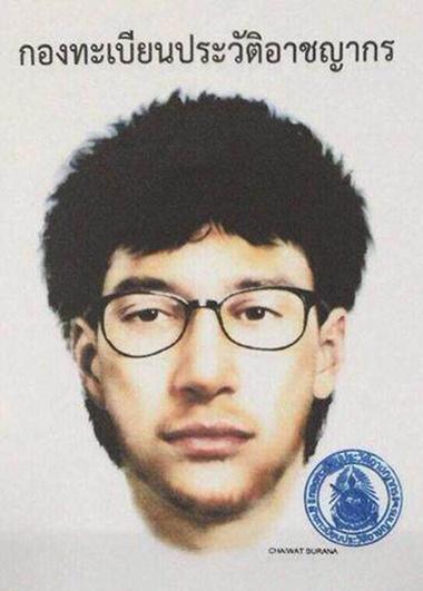 Thai police release detailed sketch of suspected shrine bomber
