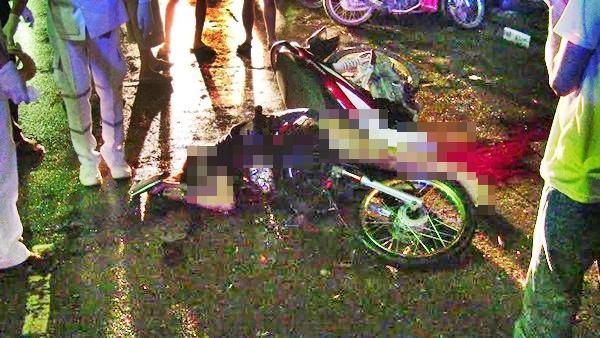 เกิดอุบัติเหตุ จยย.2 รายซ้อนที่ตราด ตาย 1 เจ็บ 2