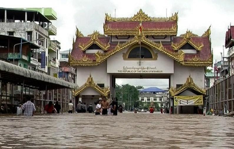 """รายงานพิเศษ : น้ำท่วมใหญ่ในพม่า """"พุทธสถานสำคัญ""""จมใต้บาดาล"""
