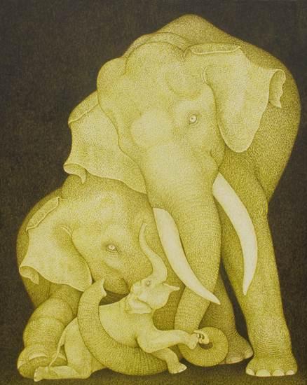 แวะชมศิลปะรูปช้างเพื่อการกุศล