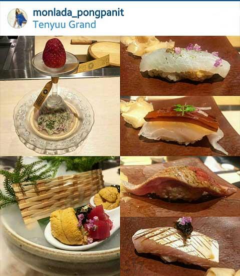 มนตร์ลดา พงษ์พานิช อาหารโปรดที่สุดของดวง-มนตร์ลดาก็คืออาหารญี่ปุ่น ฉะนั้นจัดไปข้าวปั้นหลากหลายหน้า