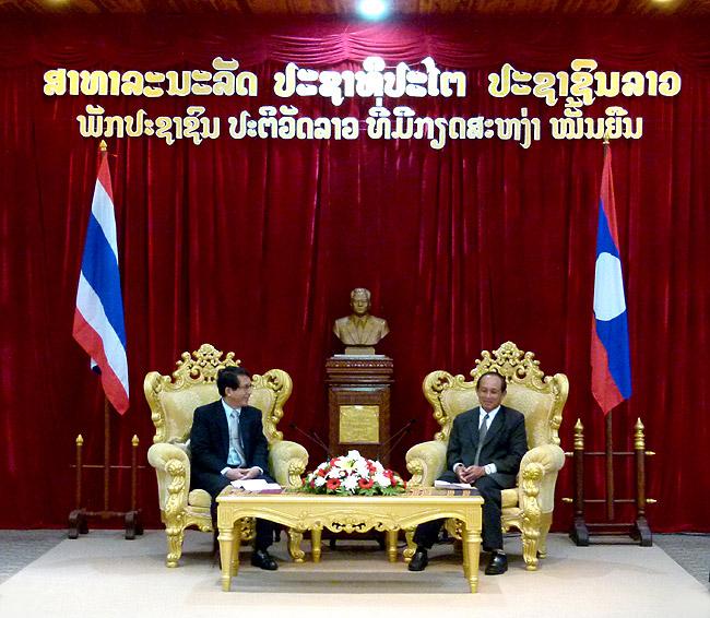 การพบปะหารือความร่วมมือระหว่างไทย-ลาว ในโครงการสี่เหลี่ยมวัฒนธรรมล้านช้าง