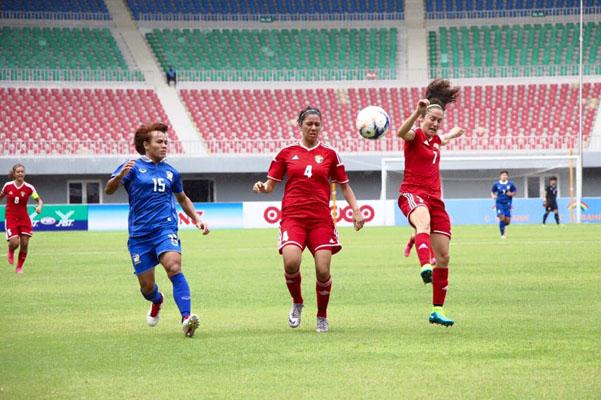 แข้งสาวไทยลุ้นไปโอลิมปิก