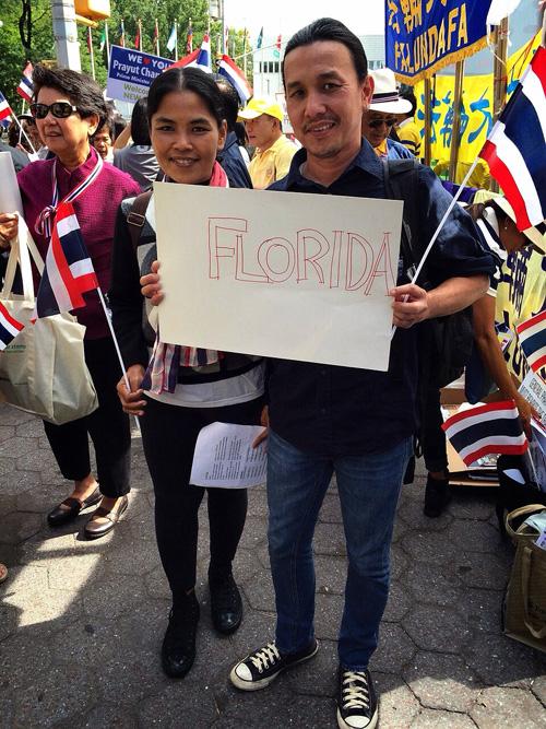 """คนไทยในสหรัฐฯ เชียร์""""บิ๊กตู่""""หน้ายูเอ็น ส่งท้ายก่อนเดินทางกลับ"""