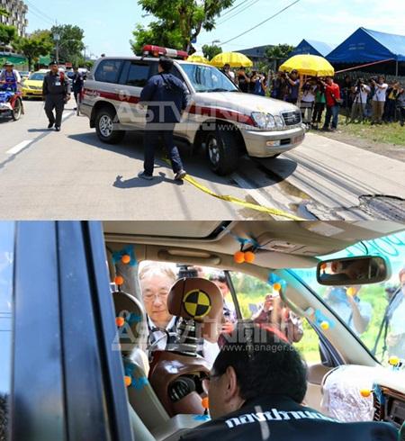 ตำรวจกองปราบฯ จำลองเหตุการณ์รถชนต้นไม้ เพื่อพิสูจน์การเสียชีวิตของนายชูวงษ์ แซ่ตั๊ง นักธุรกิจหมื่นล้าน