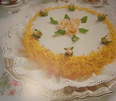 การแต่งหน้าฝอยทองแบบเค้ก