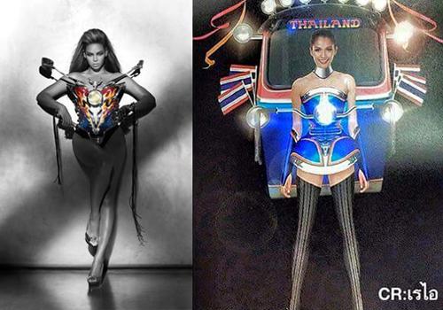 """คล้ายไม่คล้าย """"ตุ๊กตุ๊กไทยแลนด์"""" vs """"มอเตอร์ไซค์"""" ของ Thierry Mugler"""