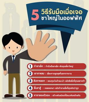 5 วิธีรับมือ เมื่อเจอ'ขาใหญ่'ในออฟฟิศ